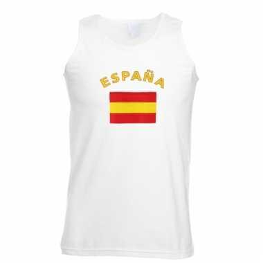 Spanje vlaggen tanktop/ t-shirt