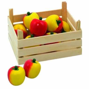 Speel appels in kist