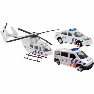 Speel nederlandse hulpdiensten politie autootjes en helikopter