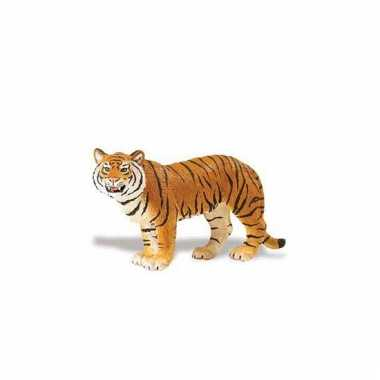 Speeldier bengaalse tijgerin bruin van plastic 14 cm