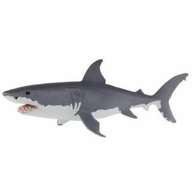 Speeldier grote witte haai 13 cm