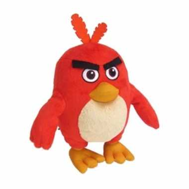 Speelgoed angry birds knuffels rood 20 cm