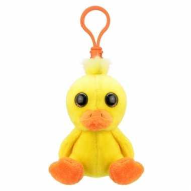 Speelgoed baby eend sleutelhanger 9 cm