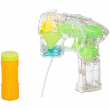 Speelgoed bellenblaaspistool met licht en geluid 27 cm