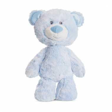 Speelgoed beren knuffel blauw 29 cm
