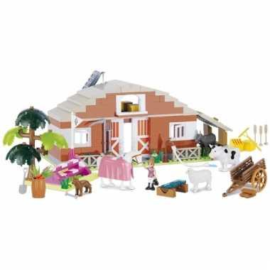 Speelgoed boerderij bouwstenen set