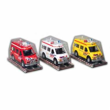 Speelgoed brandweerwagen 26 cm