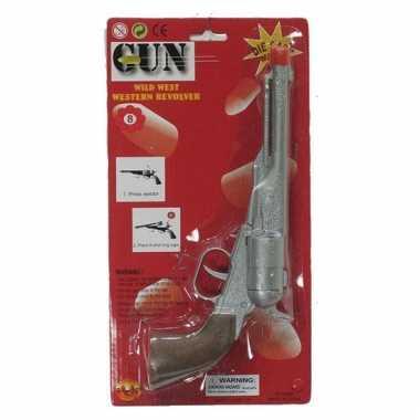 Speelgoed cowboy revolver 8 schoten