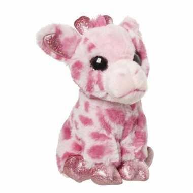 Speelgoed dieren giraffe knuffel 23 cm