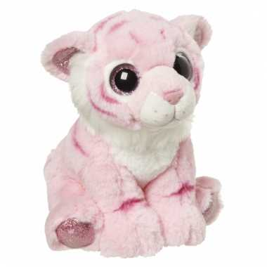 Speelgoed dieren tijger knuffel 18 cm