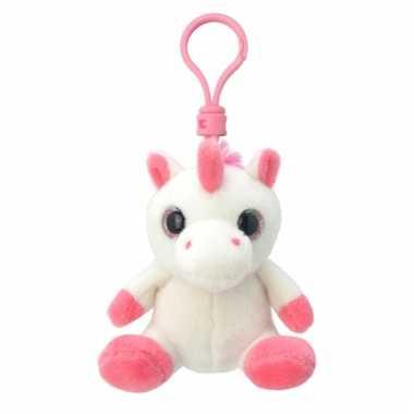 Speelgoed eenhoorn sleutelhanger 9 cm