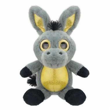 Speelgoed ezel knuffel 23 cm