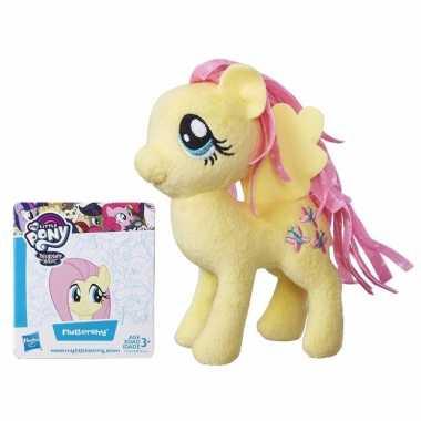 Speelgoed gele my little pony knuffel 13 cm