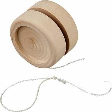 Speelgoed houten jojo 5 cm