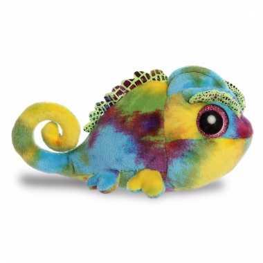 Speelgoed kameleon knuffel 20 cm