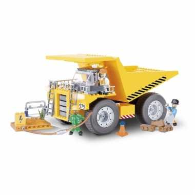 Speelgoed kiepauto bouwstenen set