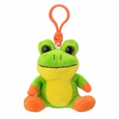 Speelgoed kikker sleutelhanger 9 cm