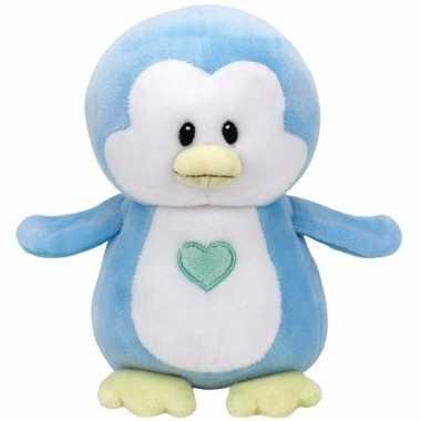 Speelgoed knuffeldier blauwe pinguin ty baby twinkles 24 cm