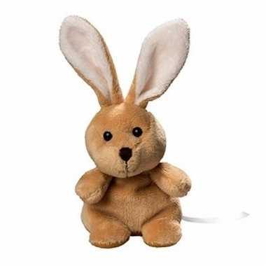Speelgoed konijn/haas knuffel 19.5 cm