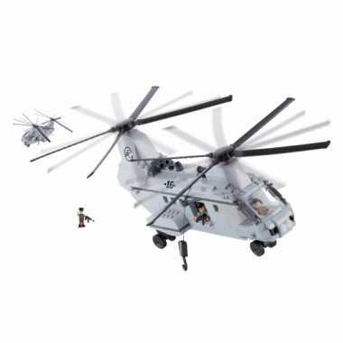 Speelgoed leger helikopter bouwstenen set