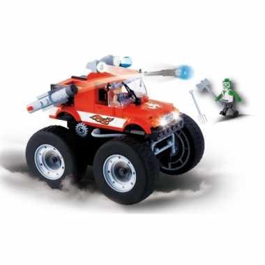 Speelgoed monster truck bouwstenen set