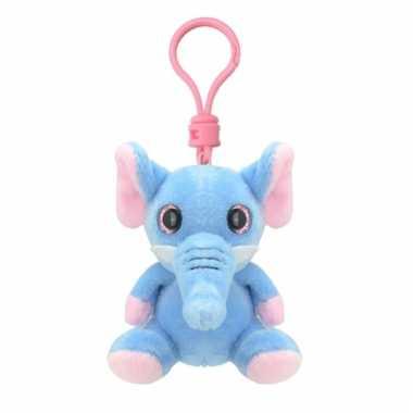 Speelgoed olifant sleutelhanger 9 cm