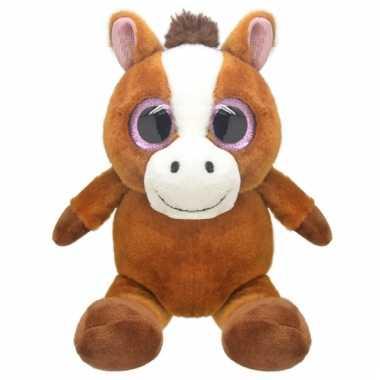 Speelgoed paard knuffel 16 cm