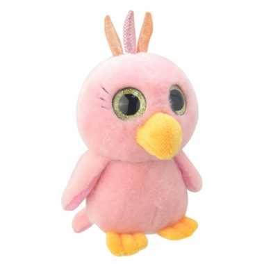 Speelgoed papegaai knuffel 23 cm