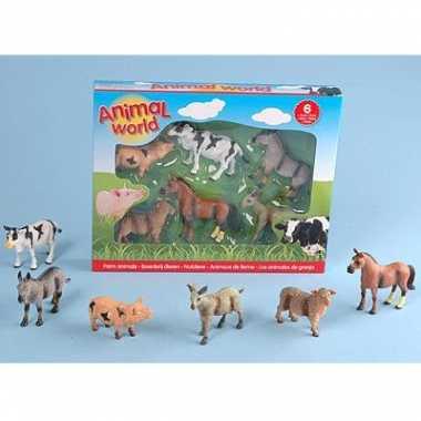 Speelgoed plastic boerderijdieren set
