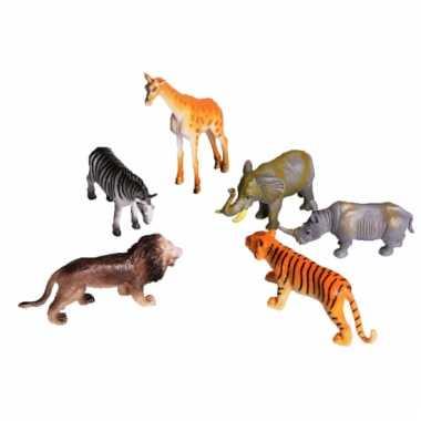 Speelgoed plastic safari diertjes 6 stuks