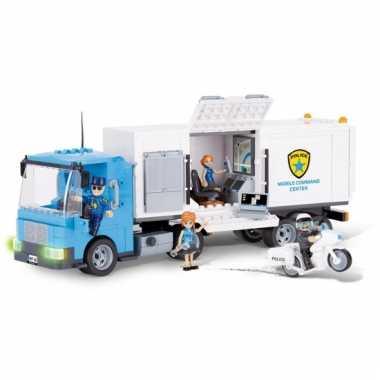 Speelgoed politiewagen bouwstenen set