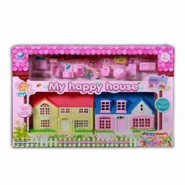 Speelgoed poppen huizen met accessoires