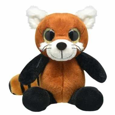 Speelgoed rode panda knuffel 30 cm