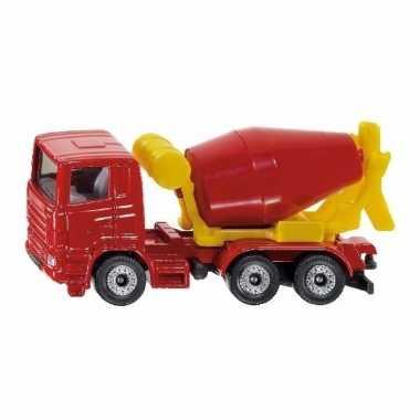 Speelgoed siku cement mixer truck schaalmodel 8 cm