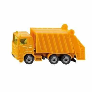 Speelgoed siku vuilniswagen truck schaalmodel 10 cm