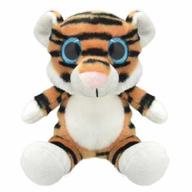 Speelgoed tijger knuffel 19 cm