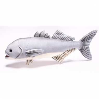 Speelgoed vissen knuffel blauwbaars 43 cm