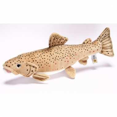Speelgoed vissen knuffel bruine forel 43 cm