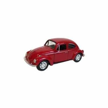 Speelgoed vw beetle rood autootje 12 cm