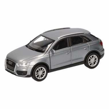 Speelgoedauto audi q3 grijs 12 cm