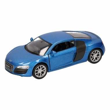 Speelgoedauto audi r8 blauw 11,5 cm
