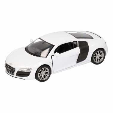 Speelgoedauto audi r8 wit 11,5 cm