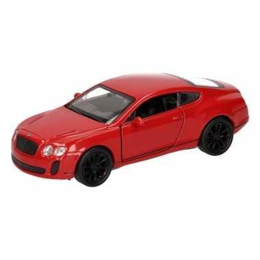 Speelgoedauto bentley continental supersports rood 12 cm