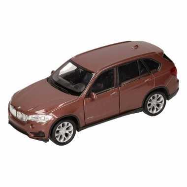 Speelgoedauto bmw x5 bruin 12 cm