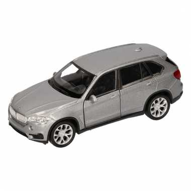 Speelgoedauto bmw x5 grijs 12 cm