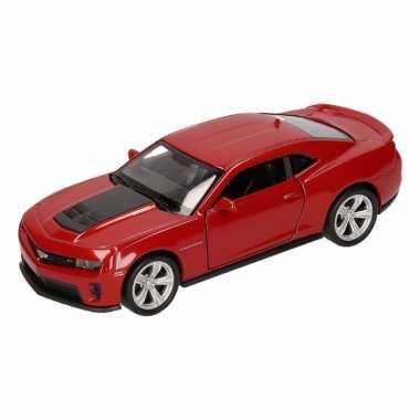 Speelgoedauto chevrolet camaro zl1 rood 12 cm