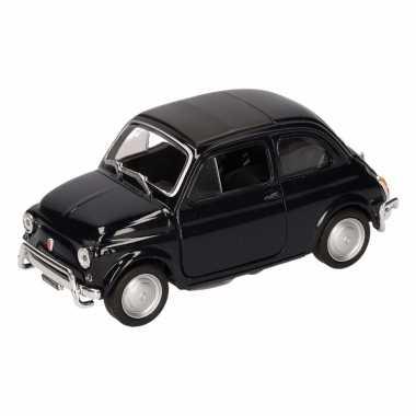 Speelgoedauto fiat 500 classic zwart 10,5 cm