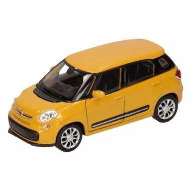 Speelgoedauto fiat 500 l geel 11,5 cm