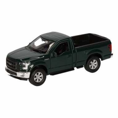 Speelgoedauto ford f-150 pick up donkergroen 12 cm