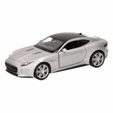 Speelgoedauto jaguar f-type coupe grijs 12 cm